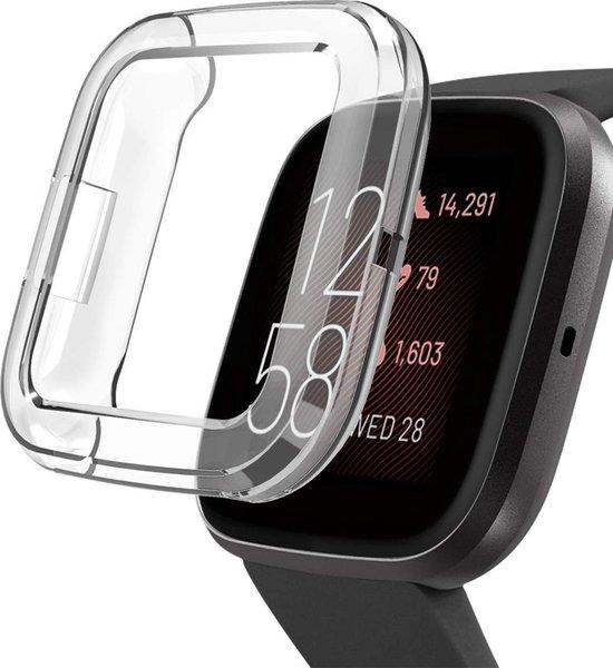 Fitbit Versa 2 Hoesje + Screenprotector - Siliconen TPU Case Transparant voor Volledige 360 Graden Bescherming - iCall