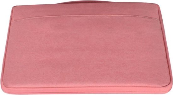 Let op type!! 15 6 inch Fashion casual polyester + nylon laptop handtas aktetas Notebook Cover Case  voor MacBook  Samsung  Lenovo  Xiaomi  Sony  DELL  CHUWI  ASUS  HP (roze)