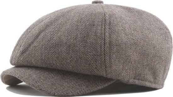 Flatcap - Platte pet - Peaky Blinders petje - Bruin visgraat
