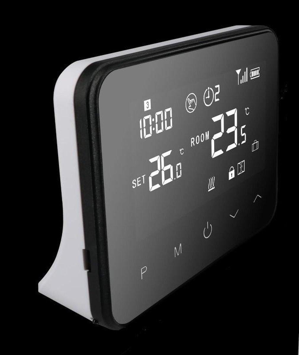 Optima W Exclusive, wifi en RF slimme thermostaat voor elektrische- en conventionele verwarmingsinstallaties