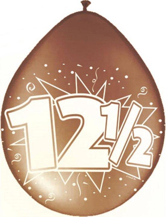 8x stuks Jubileum ballonnen 12,5 jaar - 12,5 jaar getrouwd versiering feestartikelen