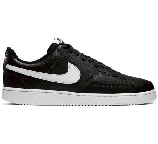 Nike Court Vision Low Heren Sneakers - Black/White-Photon Dust - Maat 46