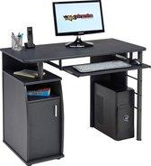 Piranha ELVER Bureau / Computerbureau - Antraciet - Zwart - Opslagkast - PC 1g