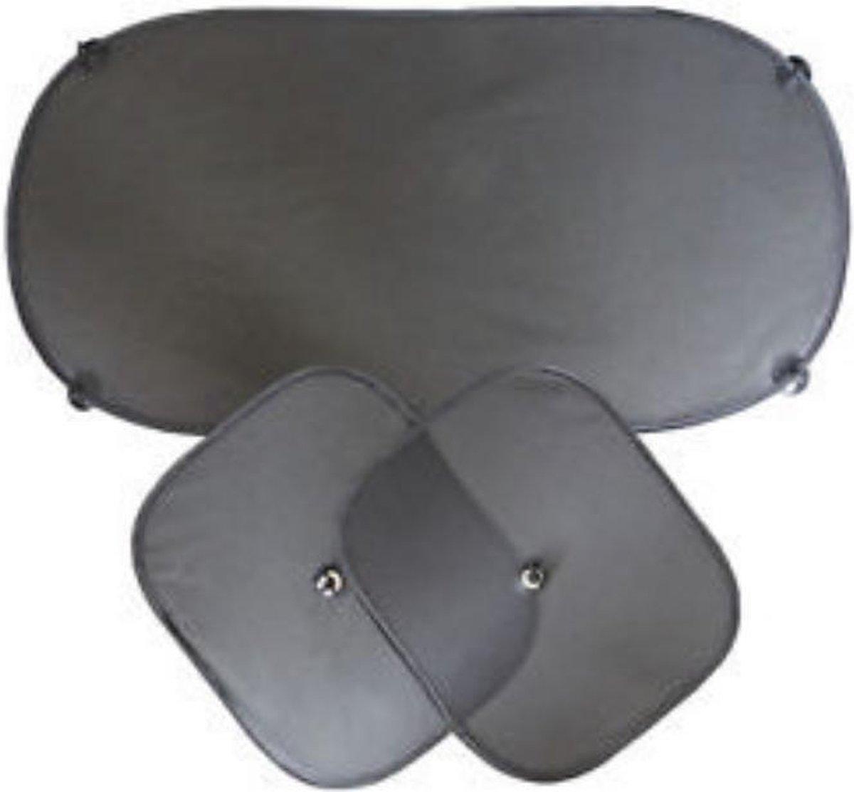 Zonnescherm auto 3 stuks - ramen en achterraam - UV- bescherming - zonwering
