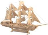Bouwpakket 3D Puzzel Zeilschip Driemaster- hout