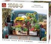 Puzzel 1000 Stukjes VINTAGE TRUCK WITH FLOWERS