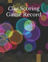 Clue Scoring Game Record