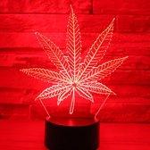 Hewec® Optische 3D illusie lamp Wiet blad