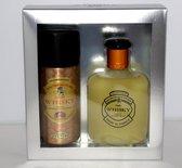CADEAU  TIP,  Whisky Classic Geschenkset met bijpassende Deodorant (Fris Kruidige Geur met Meloen, Cederhout en Muskus)
