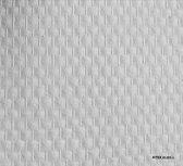 Fitex 81201-L - Voorgesaust - Glasweefselbehang - Standaard ruit - 165 gr/m2