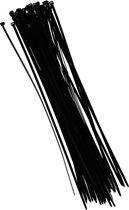 Tiewraps 40 cm - Zwart - 50 stuks - Kabelbinders - Zwarte tie wraps - Klus materiaal benodigdheden