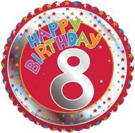 Happy Birthday 8 jaar folie ballon