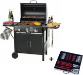 MaxxGarden Gas barbecue - 3 branders - Incl. gratis BBQ set