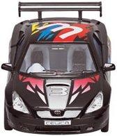 Goki Metalen auto: straatracer zwart