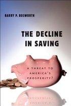 Decline in Saving
