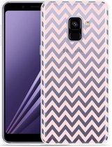 Samsung Galaxy A8 Plus 2018 Hoesje Wavy Pink
