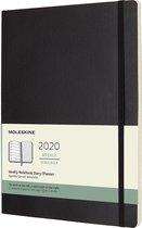 Moleskine Agenda - 12 Maanden - Wekelijks - XL (19x25cm) - Zwart - Zachte Kaft