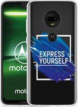 Moto G7 Plus Hoesje Express Yourself