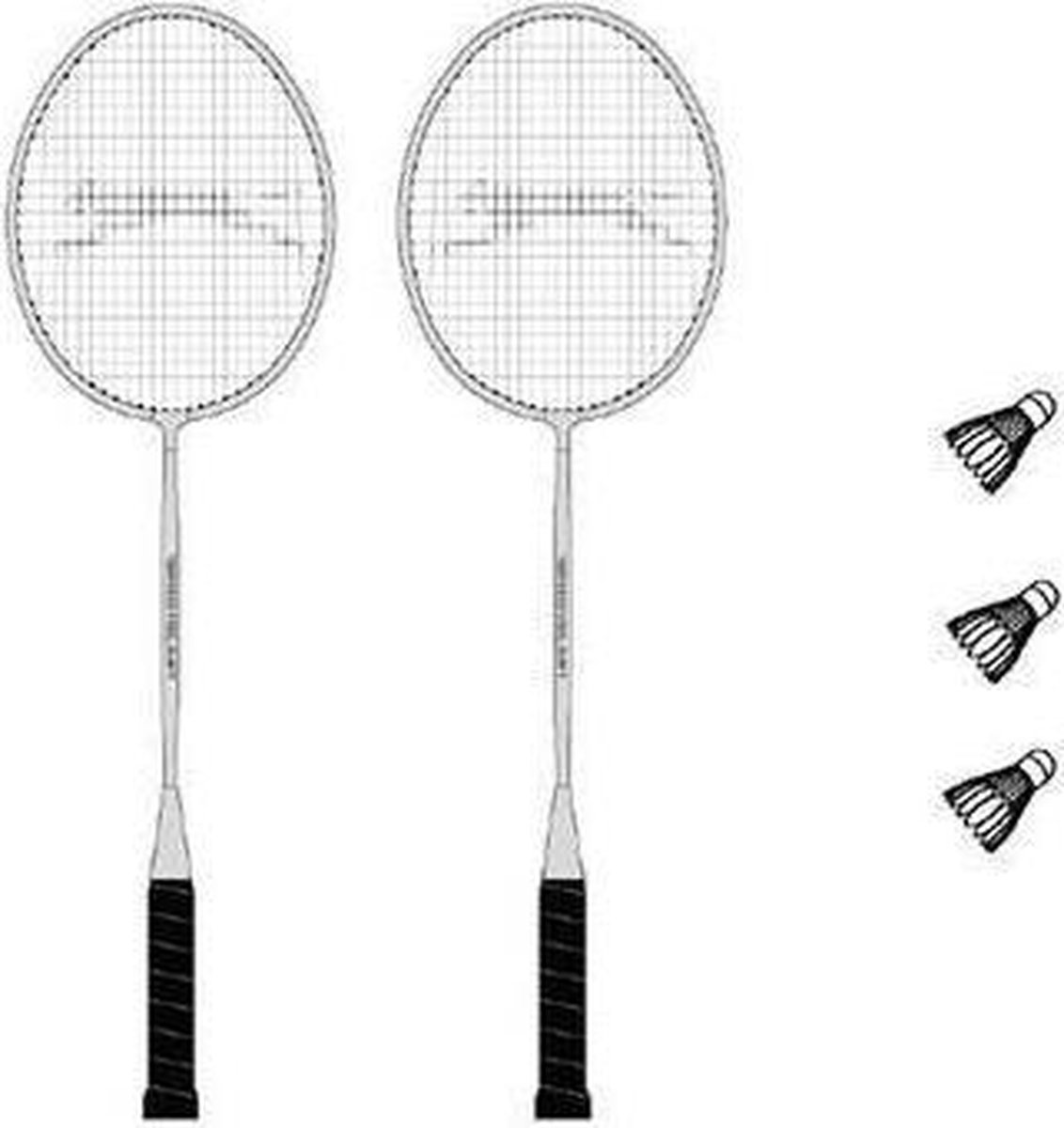 Slazenger Panther 2 Player Badminton set - inclusief opberghoes