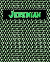 120 Page Handwriting Practice Book with Green Alien Cover Jeremiah