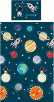 1 persoons kinderdekbedovertrek ruimtereis langs de planeten