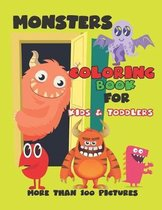Monsters Coloring Book for Kids and Toddlers