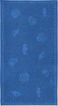 Seahorse Shells - Strandlaken - 100 x 200 cm - Blue