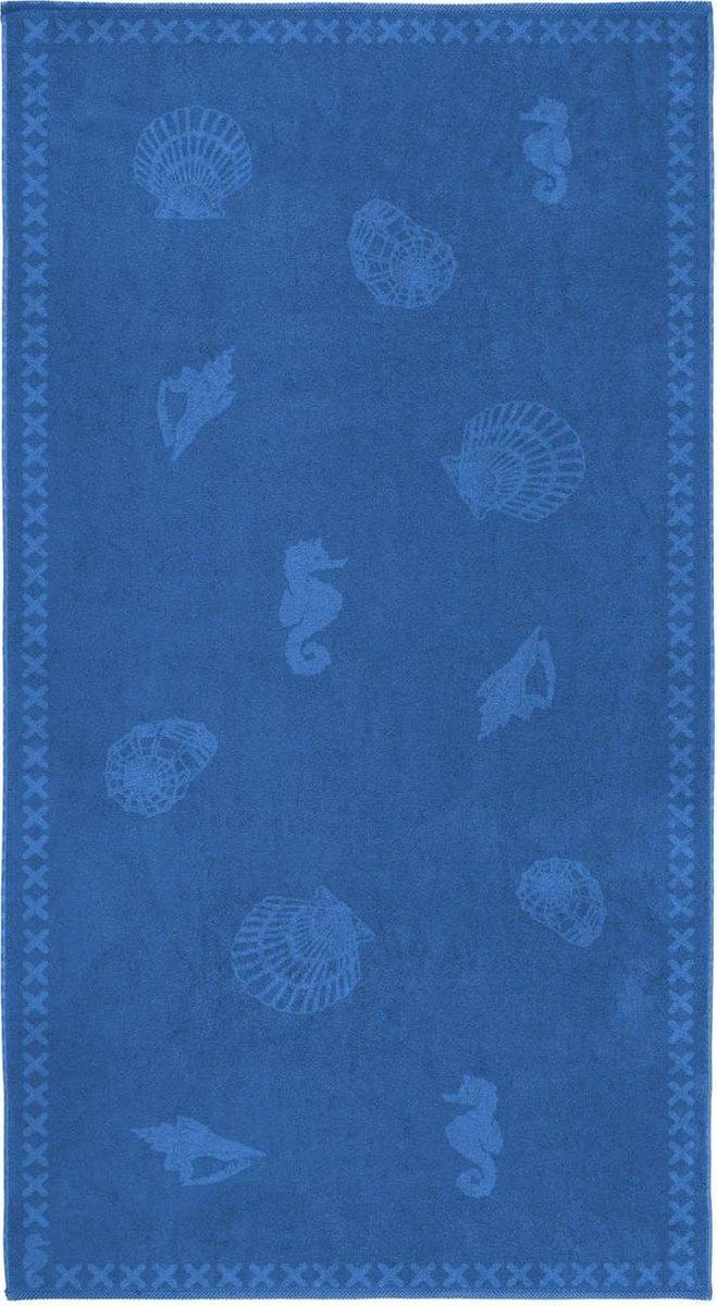 Seahorse Shells Strandlaken XL - 100x200 cm - Blue