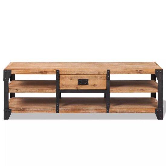 vidaXL Tv-meubel 140x40x45 cm massief acaciahout  VDXL_243913 - vidaXL