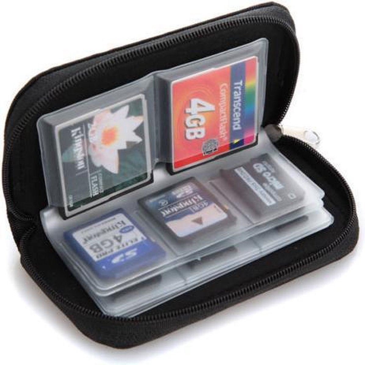 Sd kaart tasje/houder   22 kaarten   4 grote 18 kleine slots