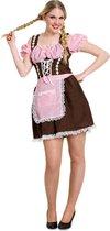 Dirndl Bruin Maat L/XL - Verkleedkleding