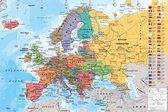 Europa Kaart -poster- aardrijkskunde-geografie- 61 x 91.5 cm.