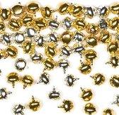 Gouden en zilveren kerst belletjes  - creatieve knutselspullen voor kinderen en volwassen voor Kerstmis knutselwerkjes (150 stuks)