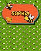 Handwriting Practice 120 Page Honey Bee Book Sophia