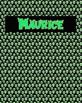 120 Page Handwriting Practice Book with Green Alien Cover Maurice
