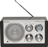 Denver TR-61 - Retro FM radio - Zwart