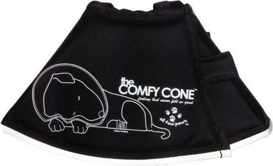 Comfy cone hondenkap zwart xl 44-57 cm / 30 cm hoog