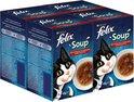 Felix Soup Vlees Selectie - Kattenvoer - 24 x 48 g
