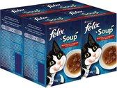 FELIX Soup Vlees Selectie - Kattenvoer - 4 x 6 x 4