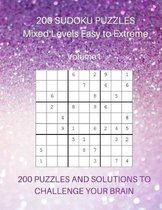200 Sudoku Puzzles Mixed Levels Easy to Extreme