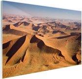 Namibie Woestijn Glas 180x120 cm - Foto print op Glas (Plexiglas wanddecoratie) XXL / Groot formaat!