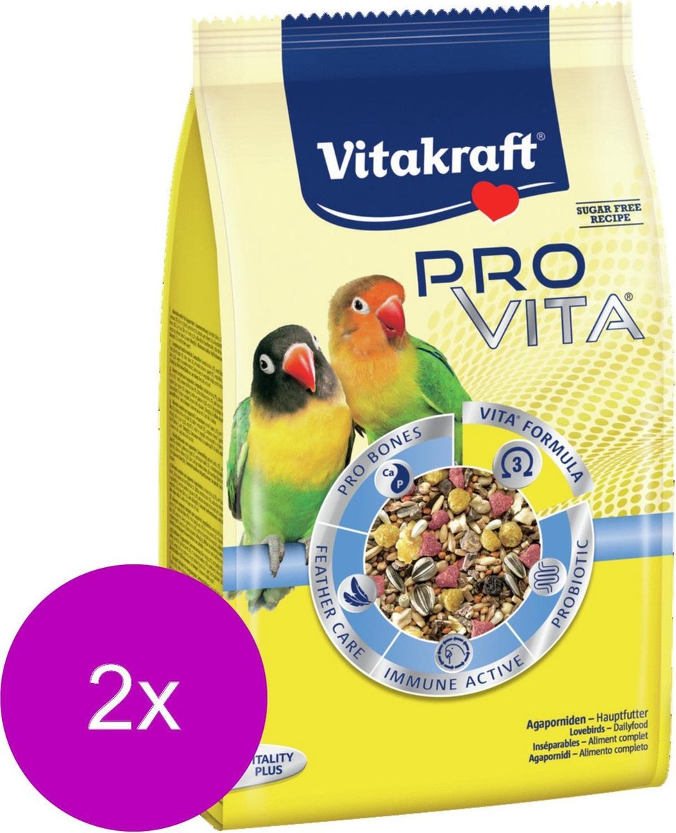 Vitakraft Pro Vita Agapornis - Vogelvoer - 2 x 750 g