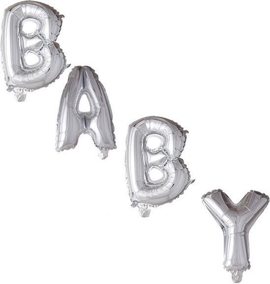 Folie Letters BABY Zilver (LARGE)