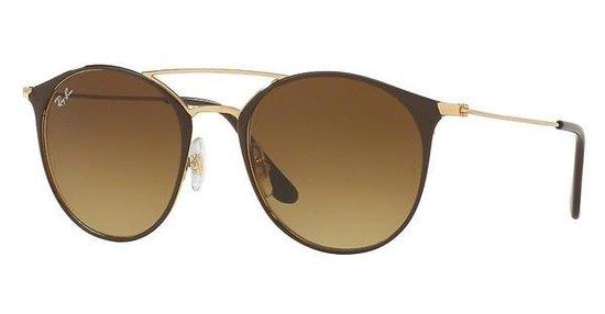 Ray-Ban RB3546 900985 - zonnebril - Goud-Bruin / Bruin Gradiënt - 52mm