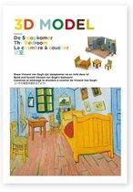 3D model. De slaapkamer - The Bedroom - La chambre à coucher. Bouw Vincent van Gogh zijn slaapkamer na en richt deze in!