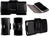 iPhone 5S / 5 / 5C / 4S / 4 Echt Leer Case Hoesje Riem Holster kleur Zwart