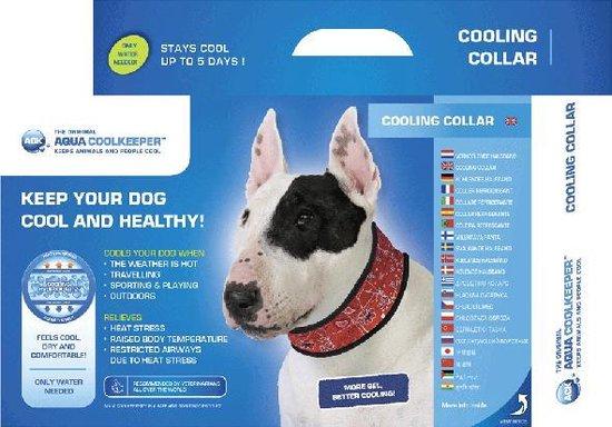 Aqua coolkeeper Verkoelende Halsband Red Western - 55-60 CMX8.5 CM