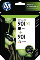 HP 901 - Inktcartridge / Zwart / Kleur / 2-Pack
