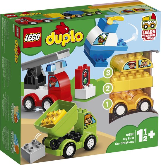 Afbeelding van LEGO DUPLO Mijn Eerste Auto Creaties - 10886