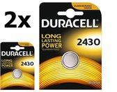 2 Stuks Duracell CR2430 3v lithium knoopcelbatterij